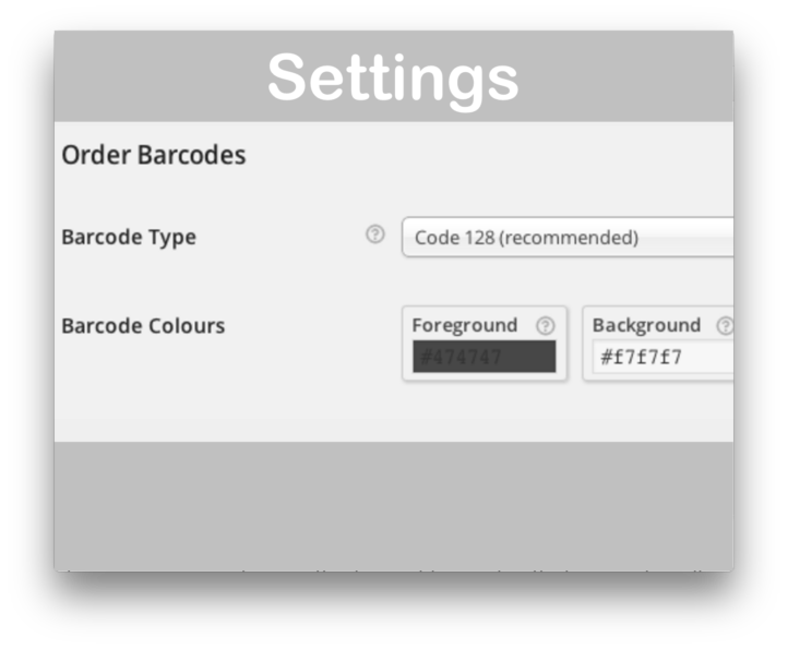 WooCommerce Order Barcodes Plugin- Settings