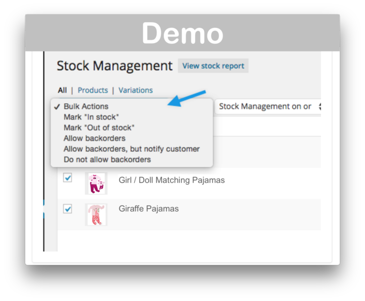 WooCommerce Stock Management Plugin- Demo