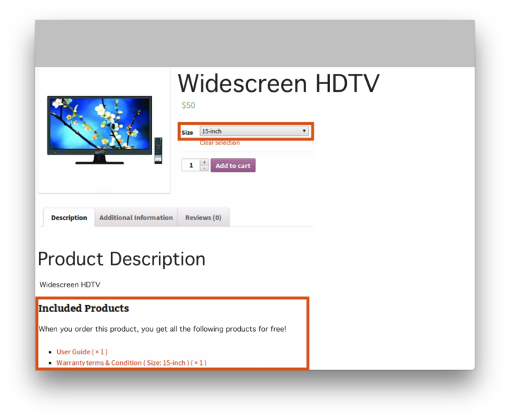 WooCommerce Chained Products Plugin- Digital Includes Demo