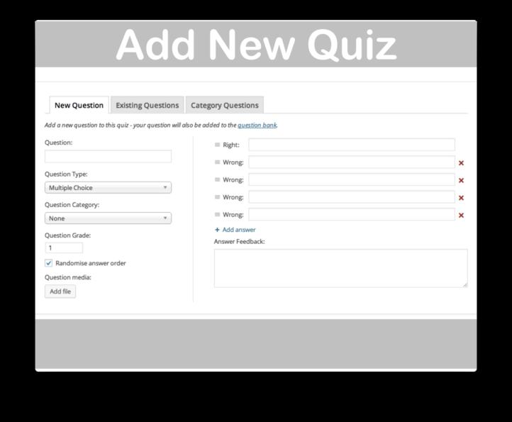 WooThemes WooCommerce Sensei LMS Plugin- Add Quiz