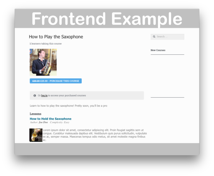 WooThemes WooCommerce Sensei LMS Plugin- Frontend 1