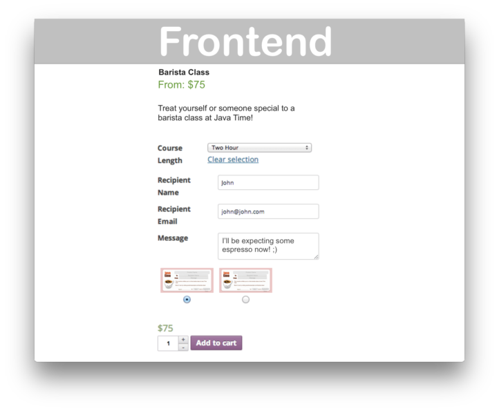 WooCommerce PDF Product Vouchers- Frontend