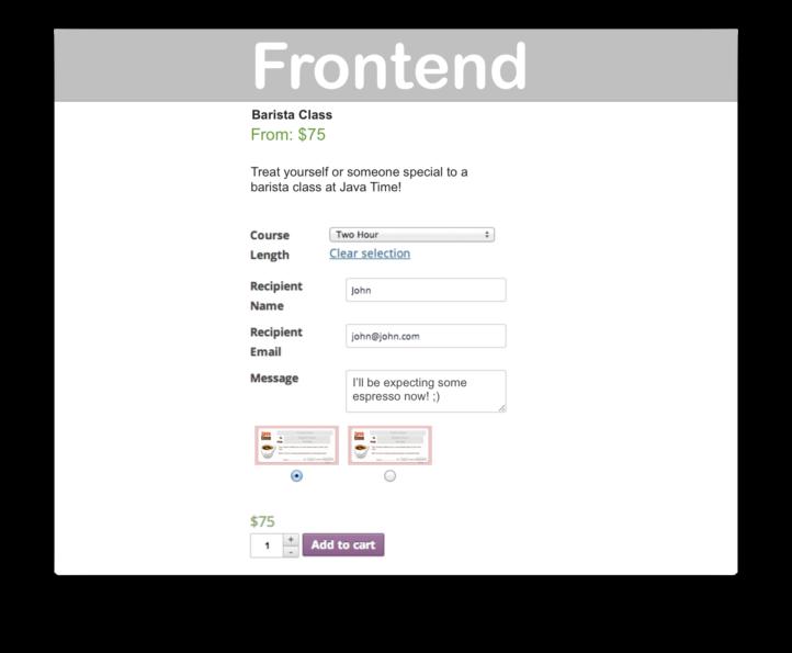 WooCommerce PDF Product Vouchers- Frontend