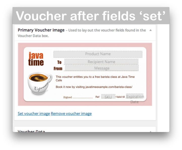 WooCommerce PDF Product Vouchers- Voucher Image Demo