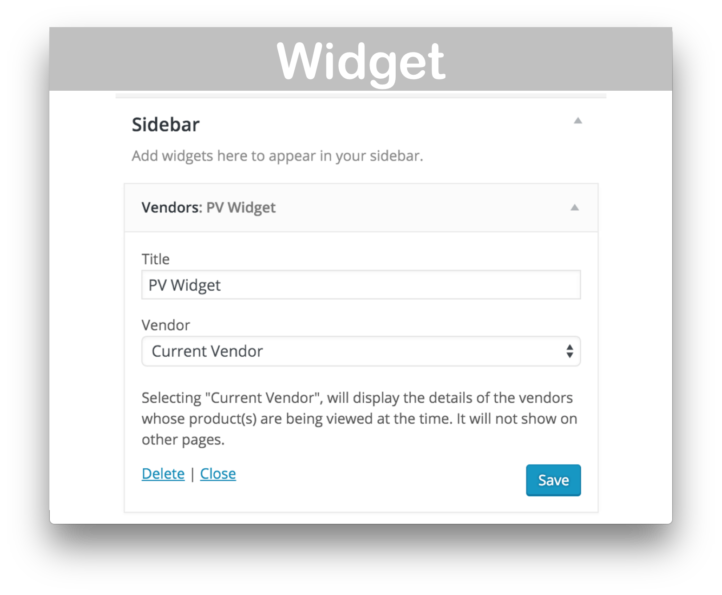 WooCommerce Product Vendors Extension- Widget Demo