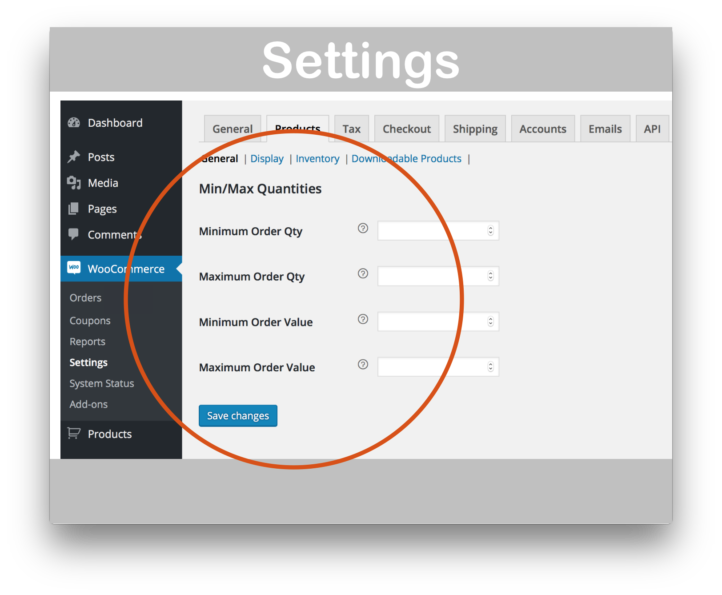 WooCommerce Min/Max Quantities Extension- Settings