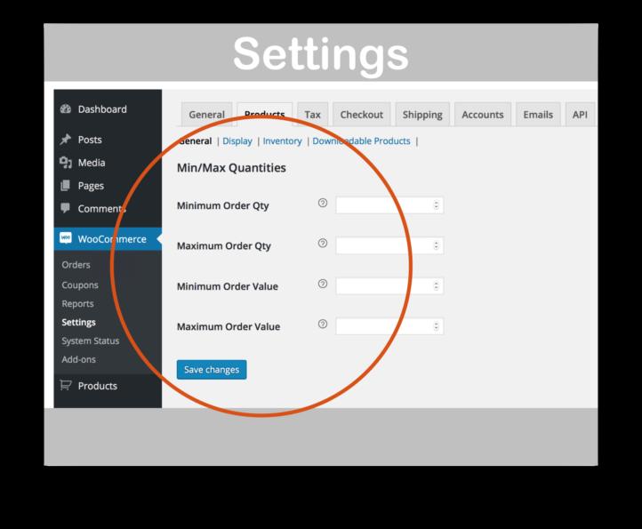 WooCommerce Min/Max Quantities Extension- Settings