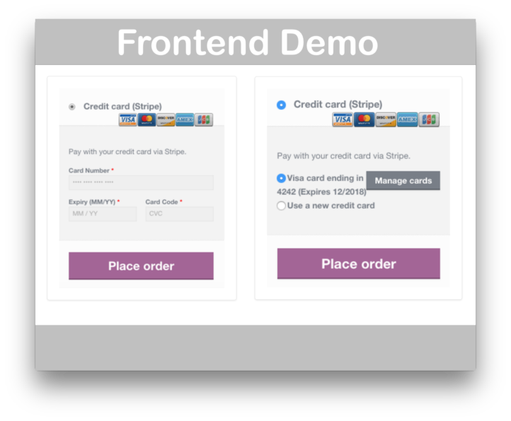 WooCommerce Stripe Payment Gateway Extension- Demo