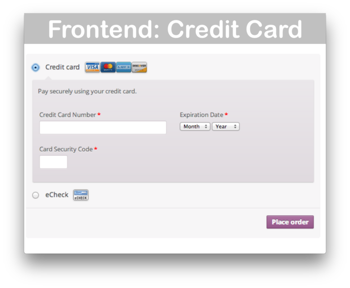 WooCommerce Authorize.net Payment Gateway Extension- Credit Cards