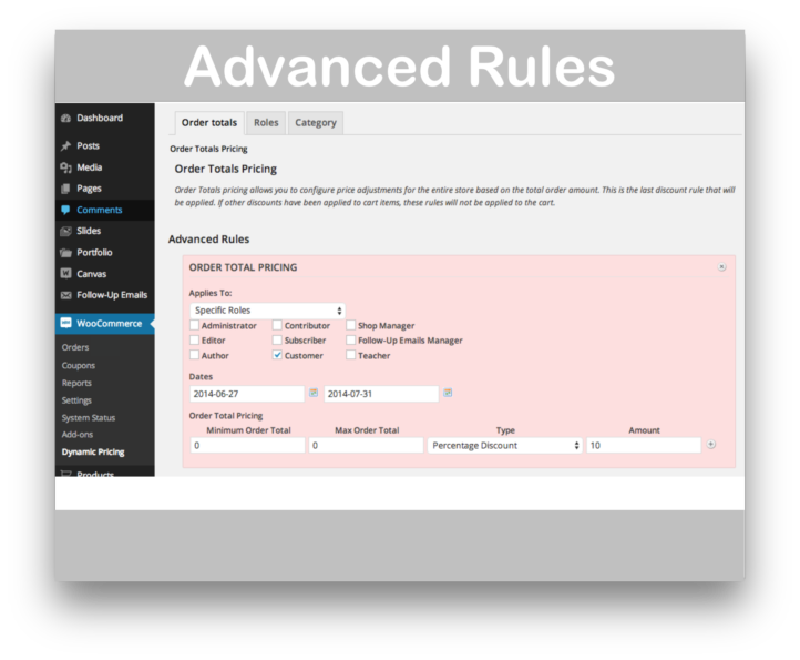 WooCommerce Dynamic Pricing Plugin- Advanced Rules Demo