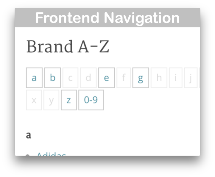 WooCommerce Product Brands Plugin- Navigation