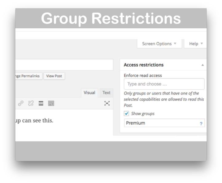 Groups Integration For WooCommerce Plugin- Group Restrictions