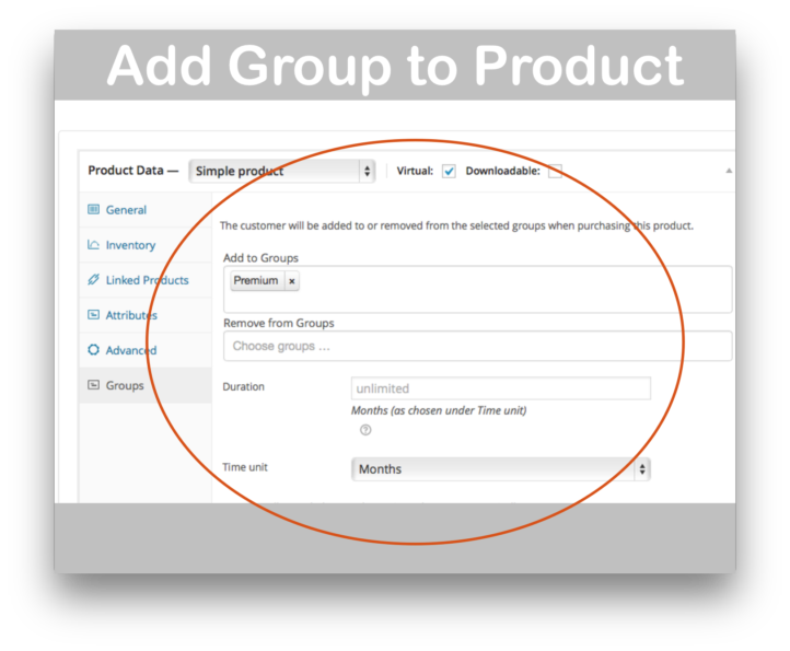 Groups Integration For WooCommerce Plugin- Product Page