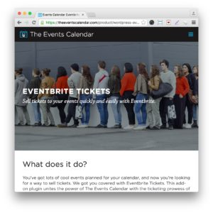 Events Calendar Eventbrite Tickets Plugin