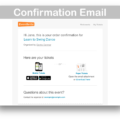 Events Calendar Eventbrite Tickets Plugin- Confirm Email
