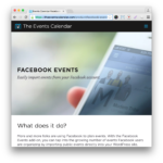 Events Calendar Facebook Integration