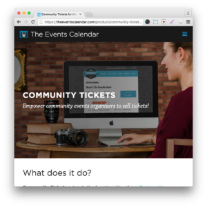 Events Calendar Community Tickets