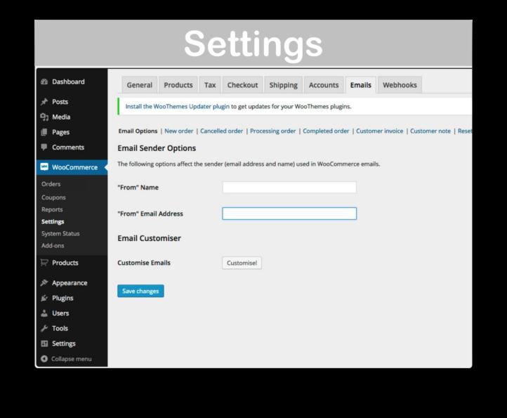 WooCommerce Email Customizer Plugin- Settings