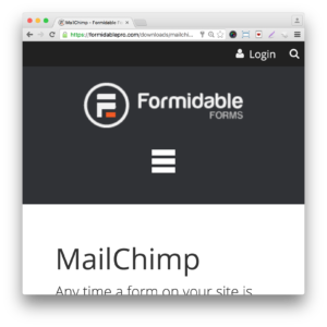 Formidable Pro Forms MailChimp Add-On