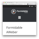 Formidable Pro Forms aWeber Add-On