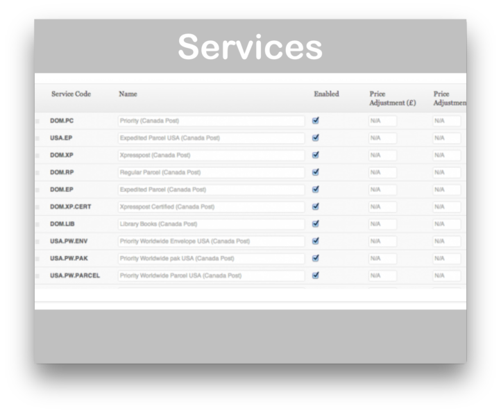 WooCommerce Canada Post Shipping Plugin-Services