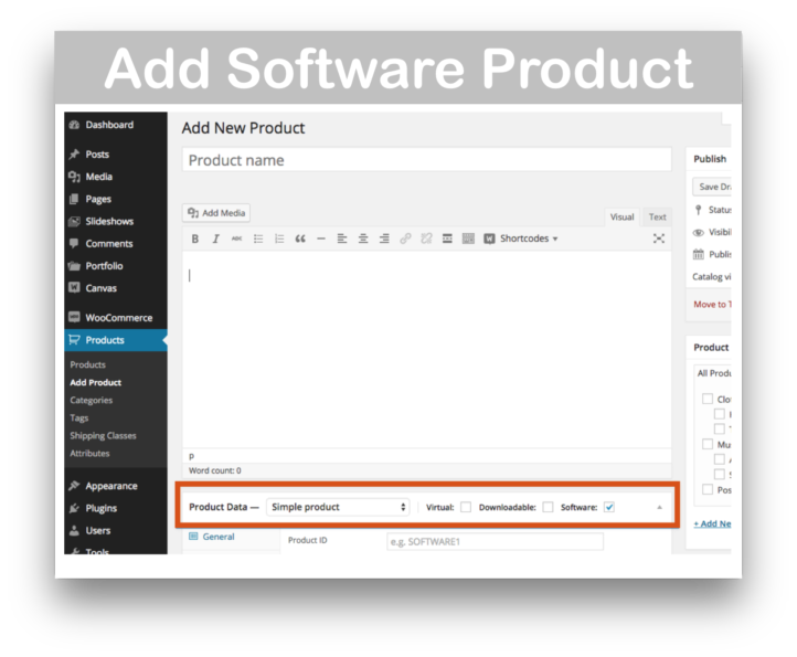 WooCommerce Software Add On Plugin- Add Product