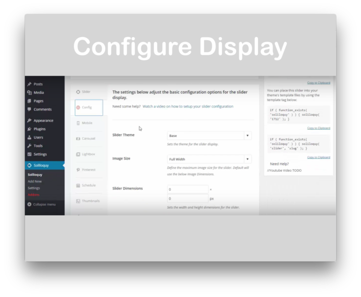 Soliloquy Slider WordPress Plugin - Display Settings Demo