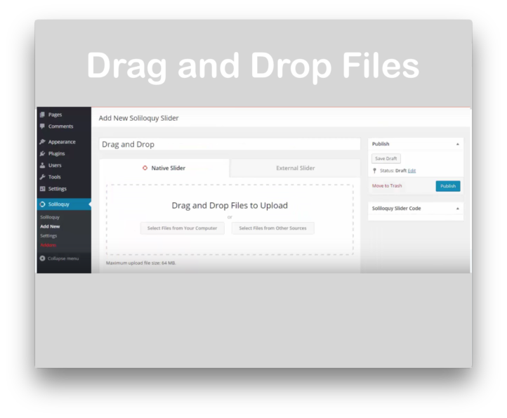 Soliloquy Slider WordPress Plugin - Drag and Drop Demo