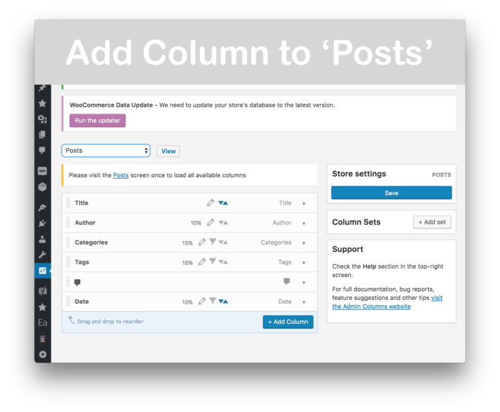 Admin Columns Pro Download- Add Column to Posts