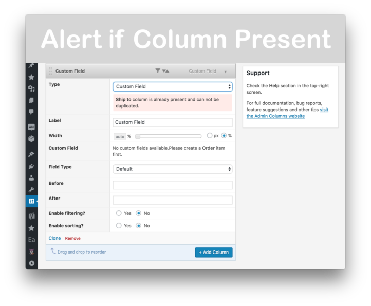 Admin Columns Pro Download- Alert if Column Present