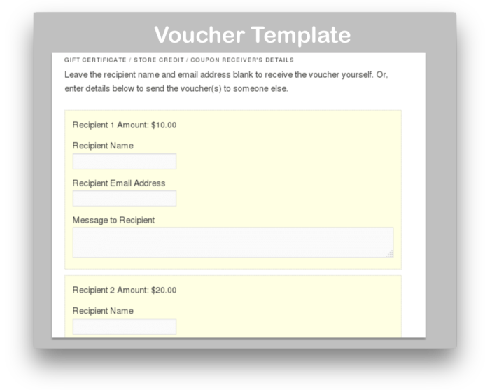 WooCommerce Gift Certificates Pro Download-recipient-demo