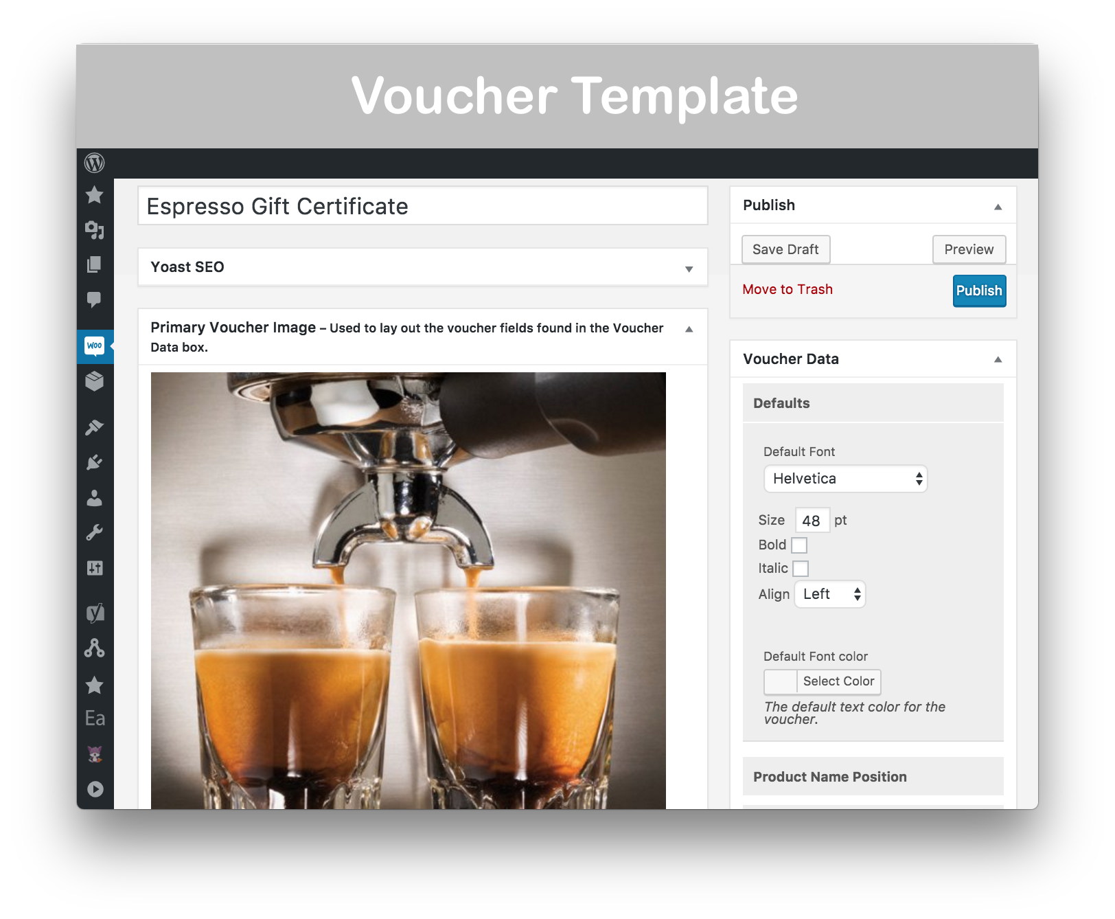 WooCommerce Gift Certificates Pro Download - Voucher Template 1