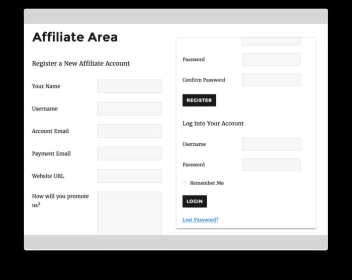 AffiliateWP Plugin - Affiliate Signup Form