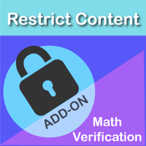 Restrict Content Pro Math Verification Add On