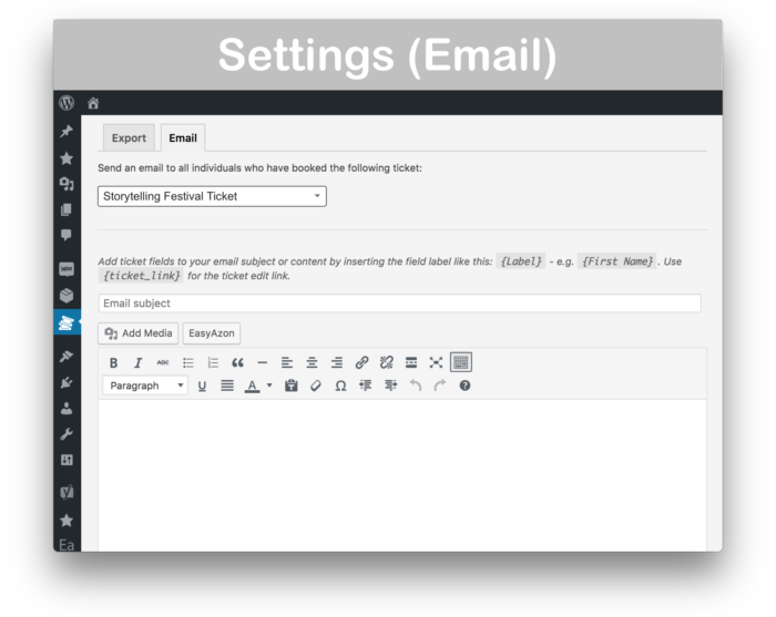 WooCommerce Box Office Plugin - Email Settings