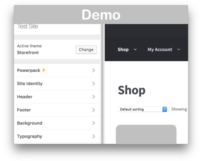 WooCommerce Storefront Powerpack Plugin- Demo