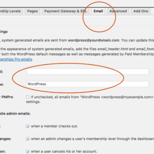 Paid Memberships Pro WordPress Plugin – Email Settings