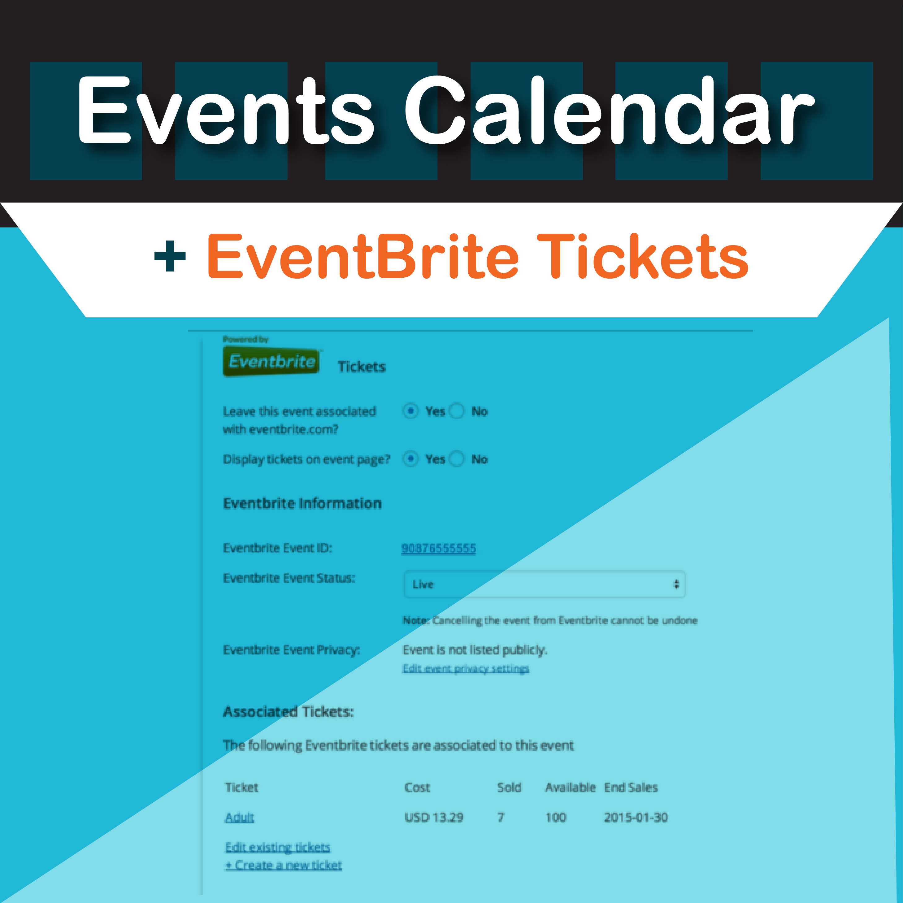 Events Calendar Eventbrite Tickets Plugin by Modern Tribe