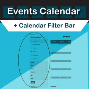 Events Calendar Filter Bar Plugin by Modern Tribe