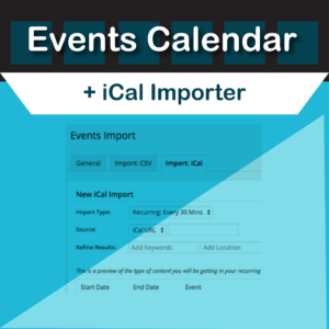 Events Calendar iCal Importer by Modern Tribe
