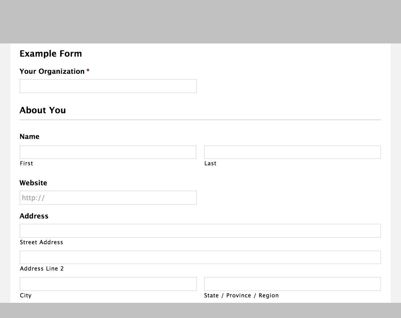 Gravity Forms for WordPress – Demo Preview