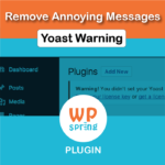 Remove Yoast License Warning