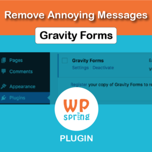 Remove Gravity Forms License Notice