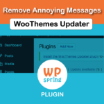 Remove Woothemes Updater Plugin Notice