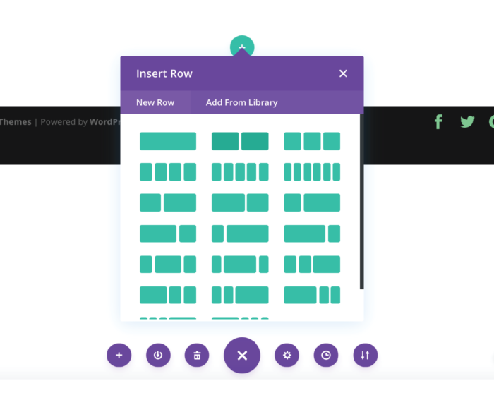 Divi Theme Insert Row