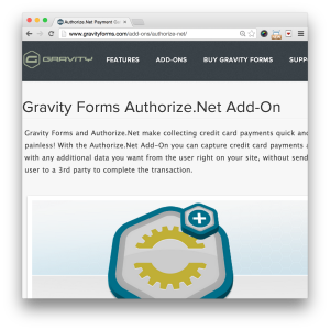 Gravity Forms Authorize.Net Add-On