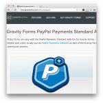 Gravity Forms PayPal Payments Standard Add-On