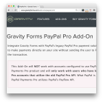 Gravity Forms PayPal Pro Add-On