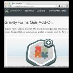 Gravity Forms Quiz Add-On